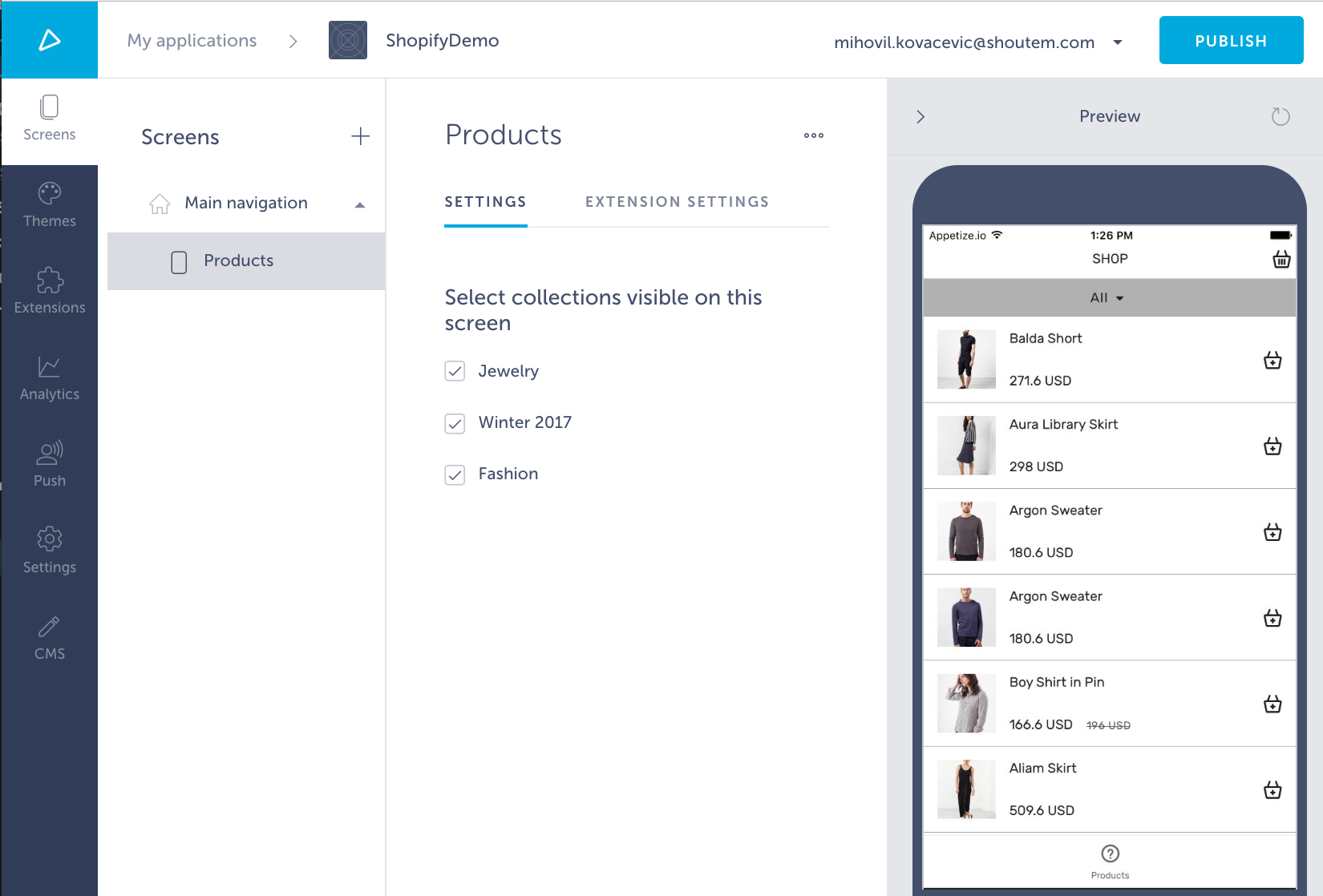 Shopify extension
