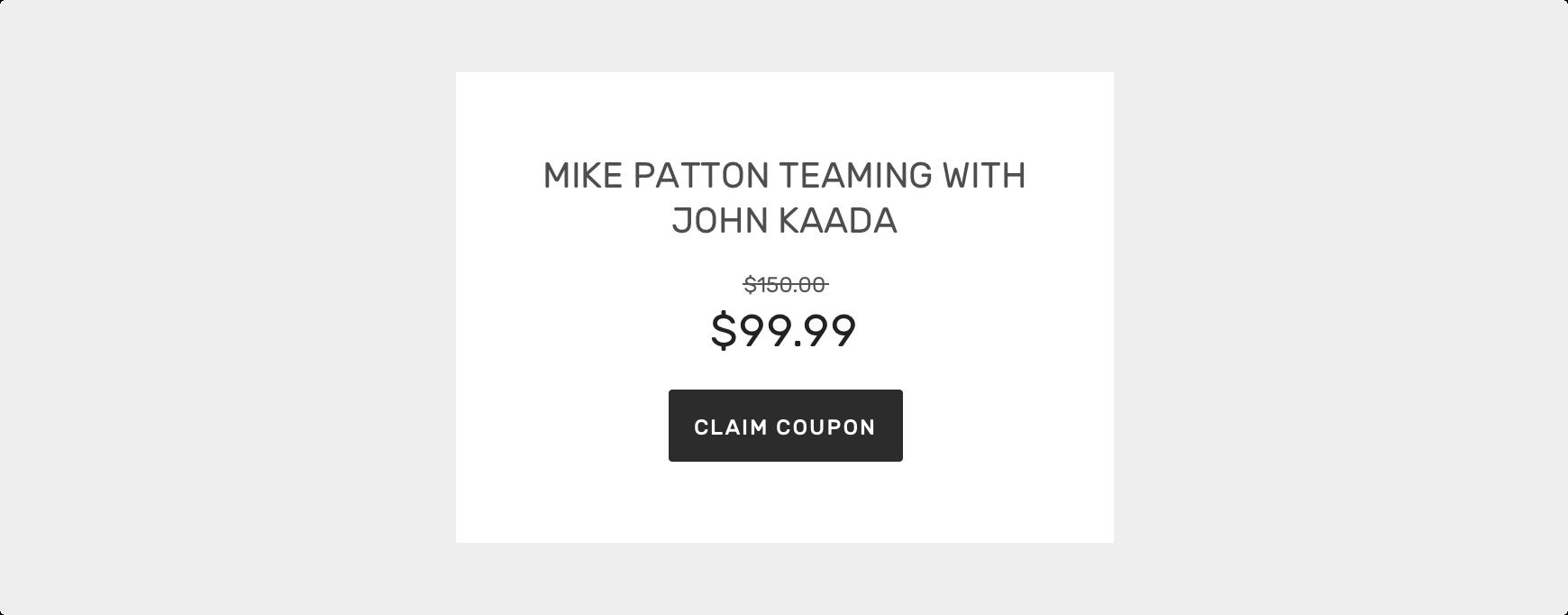 Header / Deals item example