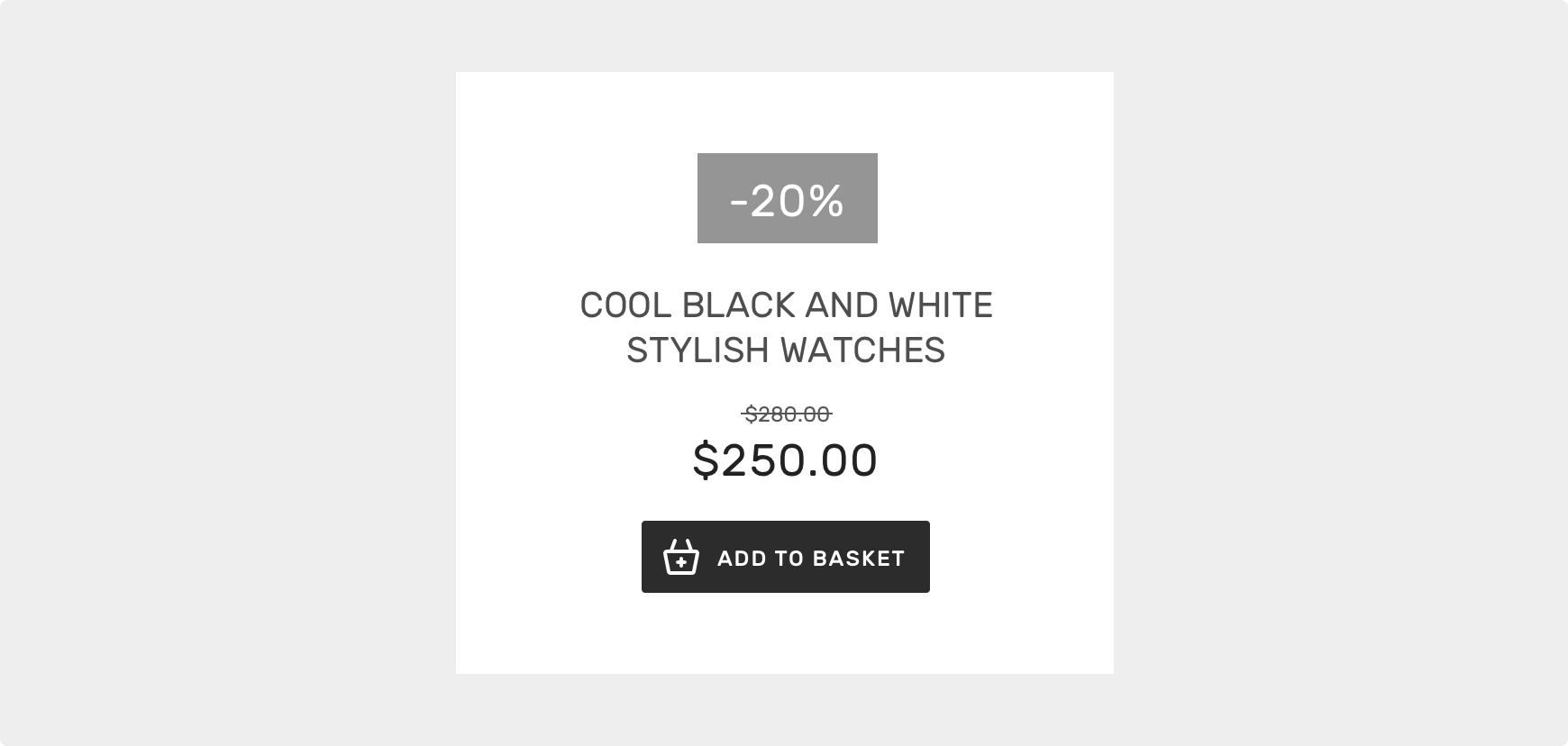 Header / Shop item example